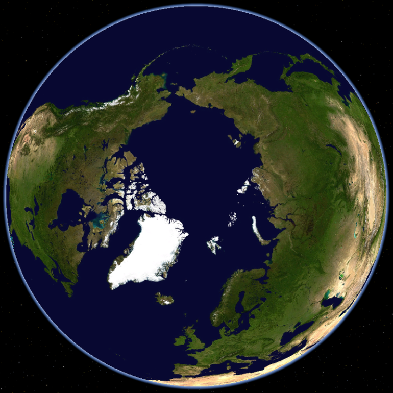 North Pole - Polar route - sas